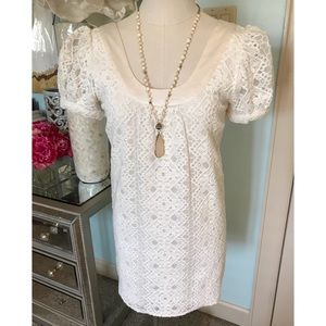 Voom by Joy Han White Lace Dress